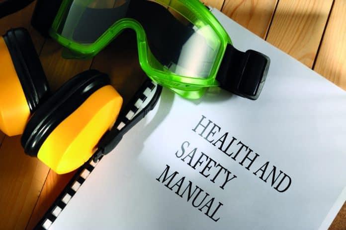 maschera di protezione e manuale sulla sicurezza